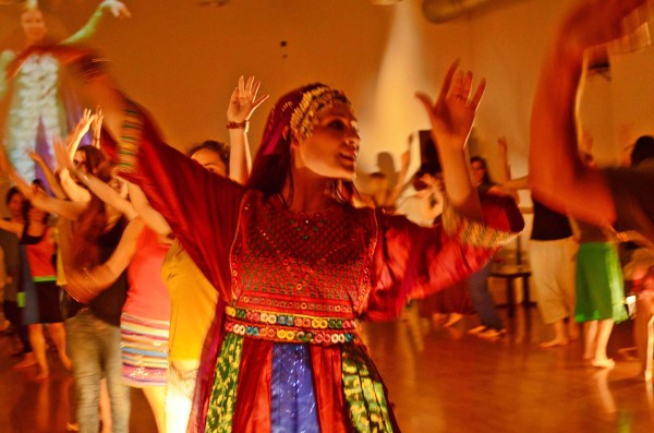 Hannah teaching Afghan dance in Barcelona