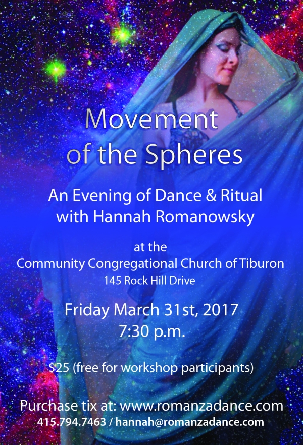 Movement of the Spheres: An Evening of Dance & Ritual with Hannah Romanowsky